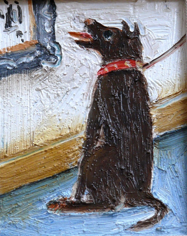 Dog Laughing at a Lowry Painting