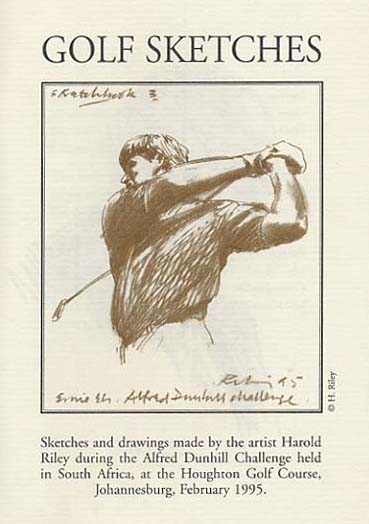 Golf Sketches – Alfred Dunhill Challenge 1995