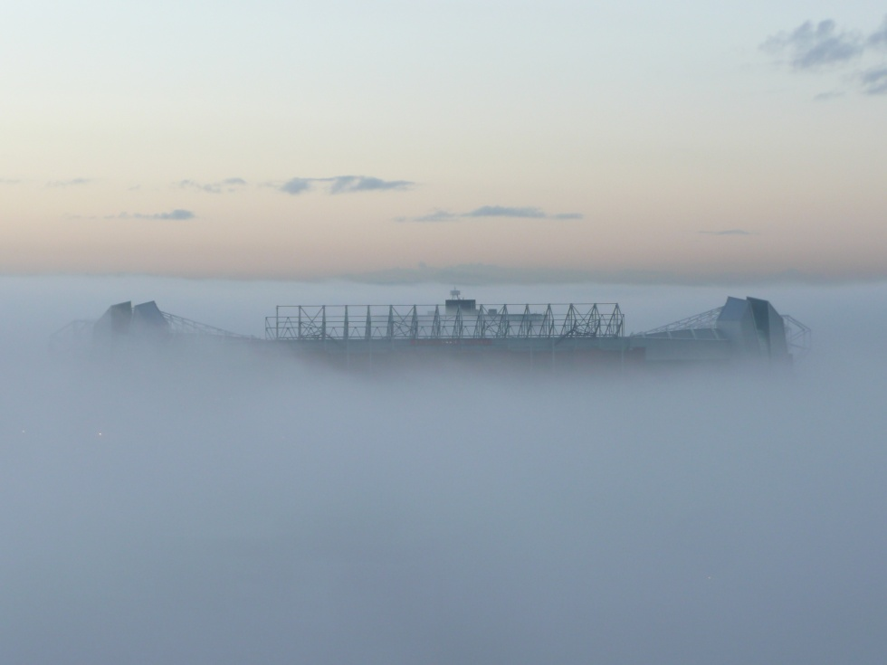View From My Window – Old Trafford in the Mist